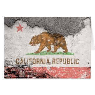 カリフォルニア旗のレンガ壁 カード