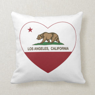カリフォルニア旗のロスアンジェルスのハート クッション