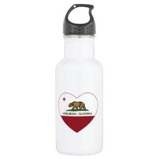 カリフォルニア旗のロングビーチのハート ウォーターボトル