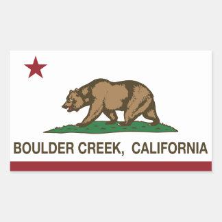 カリフォルニア旗の大きい石の入り江 長方形シール