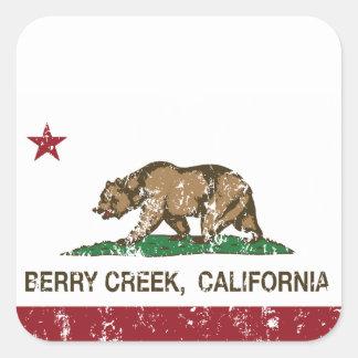 カリフォルニア旗の果実の入り江 スクエアシール