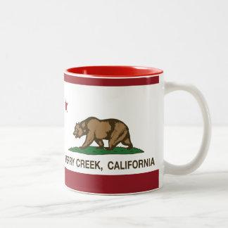 カリフォルニア旗の果実の入り江 ツートーンマグカップ