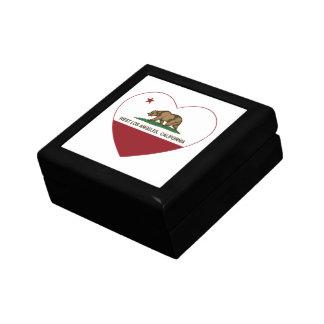 カリフォルニア旗の西のロスアンジェルスのハート ギフトボックス