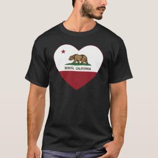 カリフォルニア旗のbonitaのハート tシャツ