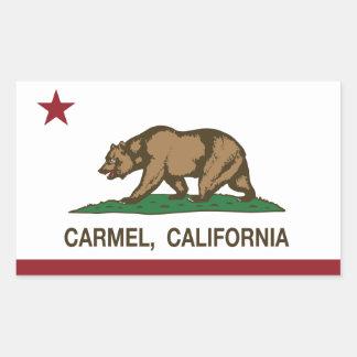 カリフォルニア旗のcarmelの旗 長方形シール
