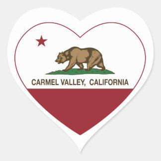カリフォルニア旗のcarmelの谷のハート ハート型シール