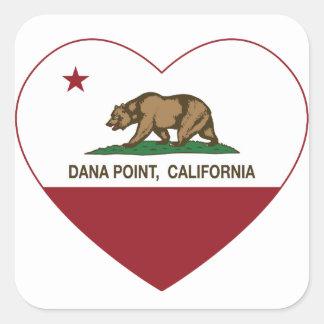カリフォルニア旗のDana Pointのハート スクエアシール