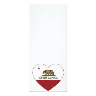 カリフォルニア旗のencinitasのハート カード