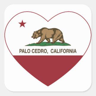 カリフォルニア旗のpaloのcedroのハート スクエアシール