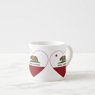 カリフォルニア旗のriponのハート エスプレッソカップ