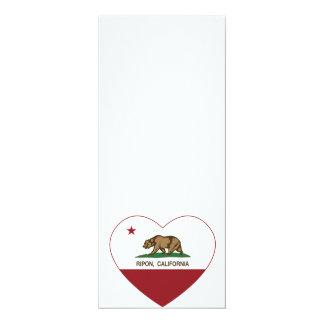 カリフォルニア旗のriponのハート カード