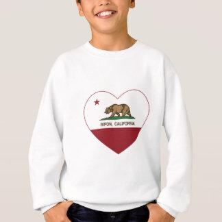 カリフォルニア旗のriponのハート スウェットシャツ