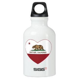 カリフォルニア旗のwhittierハート ウォーターボトル
