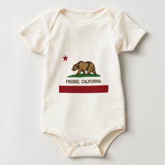 カリフォルニア旗フレズノ ベビーボディスーツ
