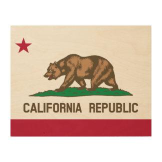 カリフォルニア旗 ウッドウォールアート