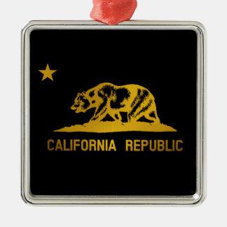カリフォルニア旗 メタルオーナメント