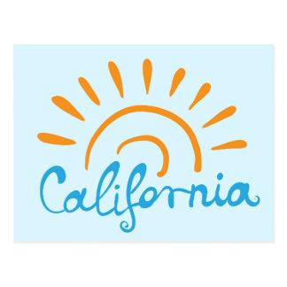 カリフォルニア明るいロゴ ポストカード