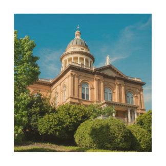 カリフォルニア歴史的な金褐色の裁判所 ウッドウォールアート