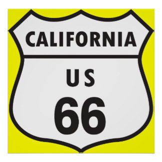 カリフォルニア米国66印 ポスター