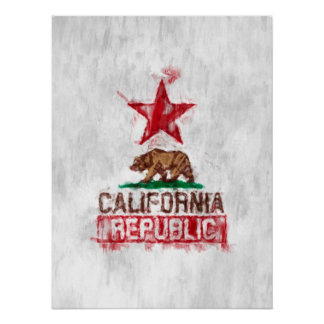 カリフォルニア絵画的な共和国 ポスター