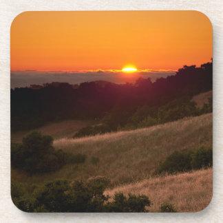 カリフォルニア美しい日没のシンプルなコースター コースター