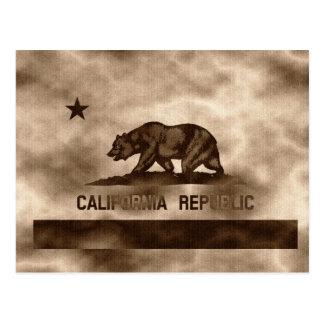 カリフォルニア老化させた旗 ポストカード