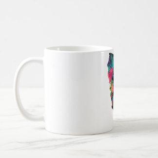 カリフォルニア花のコーヒー・マグ コーヒーマグカップ