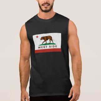 カリフォルニア西側のピットブルの旗(ヴィンテージ) 袖なしシャツ