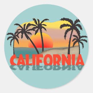 カリフォルニア記念品 ラウンドシール