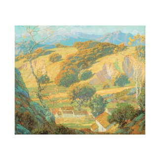 カリフォルニア谷の農場のモーリスBraunのファインアート キャンバスプリント