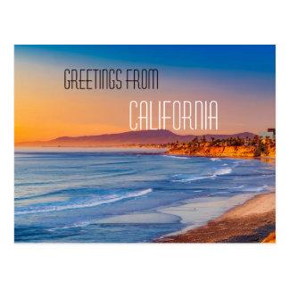 カリフォルニア郵便はがきからの挨拶 ポストカード