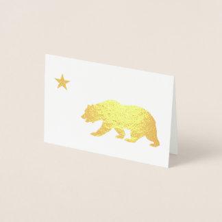カリフォルニア金クリスマス 箔カード