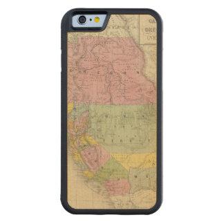カリフォルニア、オレゴン、ユタ、ニューメキシコ3 CarvedメープルiPhone 6バンパーケース