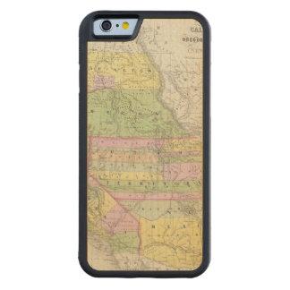 カリフォルニア、オレゴン、ワシントン州、ユタ、ニューメキシコ6 CarvedメープルiPhone 6バンパーケース