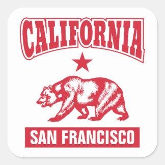 カリフォルニア-カスタマイズあなたの故郷 スクエアシール