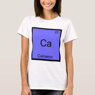 カリフォルニア-カメロンおもしろいな化学要素の記号のティー Tシャツ