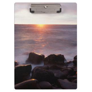 カリフォルニア、サンディエゴの日没の崖、日没2 クリップボード