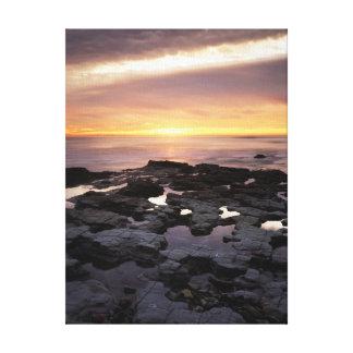 カリフォルニア、サンディエゴの日没の崖、日没6 キャンバスプリント