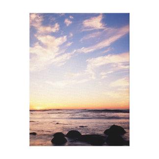 カリフォルニア、サンディエゴの日没の崖、日没7 キャンバスプリント