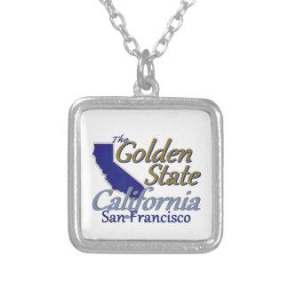 カリフォルニア シルバープレートネックレス