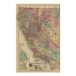カリフォルニア、ネバダ ポスター