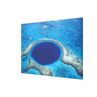 カリフォルニア、ベリセ。 青い穴(直径の空中写真 キャンバスプリント