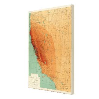 カリフォルニア、強度を示すネバダ キャンバスプリント