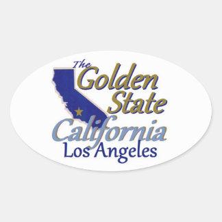 カリフォルニア 楕円形シール