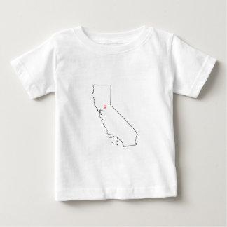 カリフォルニアOutlyner地図 ベビーTシャツ