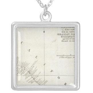 カリフォルニアUncolored図表 シルバープレートネックレス