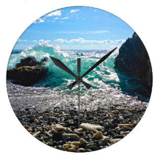 カリブのしぶき ラージ壁時計