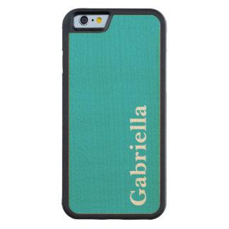 カリブので青いカスタマイズ可能 CarvedメープルiPhone 6バンパーケース