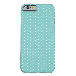 カリブのなティール(緑がかった色)の水玉模様のiPhone 6 Barely There iPhone 6 ケース