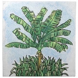 カリブのなバナナの木 ナプキンクロス